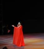 Chanteuse célèbre Dong Wenhua-theFamous de Chinois et classicconcert Images libres de droits