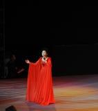 Chanteuse célèbre Dong Wenhua-theFamous de Chinois et classicconcert Photographie stock libre de droits
