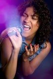 Chanteuse noire image libre de droits