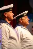 Chantez des soldats russes, du choeur et des solistes de la chanson et de l'ensemble de danse de la zone militaire de Léningrad Image libre de droits