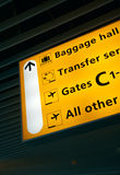Chantez le panneau à l'aéroport 2 Photos stock