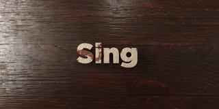 Chantez - titre en bois sale sur l'érable - l'image courante gratuite de redevance rendue par 3D illustration de vecteur