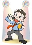 Chantez une chanson - karaoke illustration stock