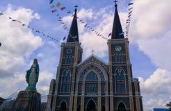 chanthaburi大教堂  大教会在泰国 库存图片