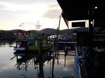 Chanthaburi Fisherman& x27; angra de s foto de stock royalty free
