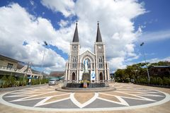 CHANTHABURI - November 15, 2016: The Catholic Church Stock Photo