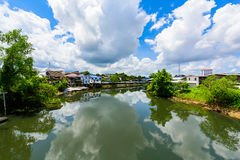 Chanthaburi Old Town Waterfront, Landmark with old building vill Stock Photo