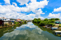 Chanthaburi Old Town Waterfront, Landmark with old building vill Stock Photography