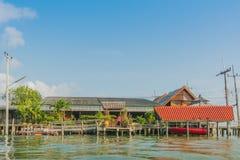 CHANTHABURI, THAILAND: APRIL 16, 2019 Scenery of Fishing village The No-Land Village on april 16,2019 at Bang Chan, Khlung,. Chanthaburi, Thailand stock image
