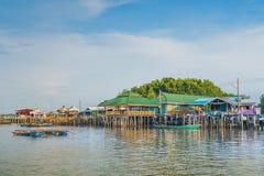 CHANTHABURI, THAILAND: APRIL 15, 2019 Scenery of Fishing village The No-Land Village on april 15,2019 at Bang Chan, Khlung,. Chanthaburi, Thailand royalty free stock image