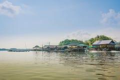 CHANTHABURI, THAILAND: APRIL 16, 2019 Scenery of Fishing village The No-Land Village on april 16,2019 at Bang Chan, Khlung,. Chanthaburi, Thailand royalty free stock images