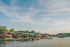 CHANTHABURI, THAILAND: APRIL 15, 2019 Scenery of Fishing village The No-Land Village on april 15,2019 at Bang Chan, Khlung,. Chanthaburi, Thailand stock photography