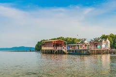 CHANTHABURI, THAILAND: APRIL 15, 2019 Scenery of Fishing village The No-Land Village on april 15,2019 at Bang Chan, Khlung,. Chanthaburi, Thailand stock image