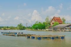 CHANTHABURI, THAILAND: APRIL 15, 2019 Scenery of Fishing village The No-Land Village on april 15,2019 at Bang Chan, Khlung,. Chanthaburi, Thailand royalty free stock photography