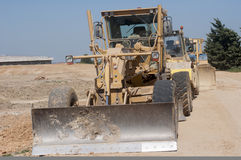 Chantier 22. Construction for the construction of the LGV route Royalty Free Stock Photography