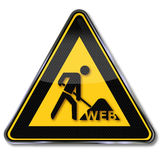 Chantier d'ouvrier, de Web et de construction Photo stock