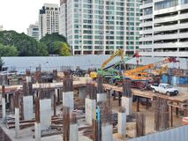 Chantier de construction à Bangkok photo stock