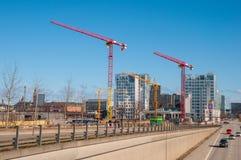 Chantier de construction à Copenhague du centre Photos libres de droits