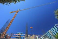Chantier de construction à la banlieue de l'expo 98, Lisbonne Images libres de droits