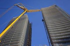 Chantier de construction à un coeur du centre ville Photo stock