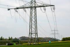 Chantier de construction électrique images libres de droits