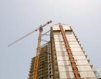 Chantier de construction élevé concret Photographie stock