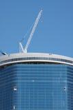 Chantier de construction élevé en verre et en acier Images libres de droits