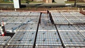 Chantier de construction australien de préparation de dalle en béton banque de vidéos