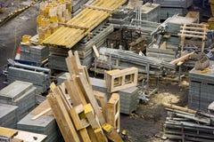 Chantier de construction avec des matériaux Photos stock