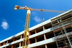 Chantier de construction avec la grue Image libre de droits