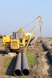Chantier de construction avec le gazoduc Image stock