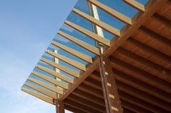 Chantier de construction : bois de construction stratifié collé photos libres de droits