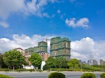 Chantier de construction chinois Photographie stock