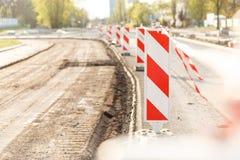 Chantier de construction clôturé Photographie stock libre de droits
