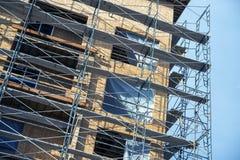 Chantier de construction d'échafaudage images libres de droits