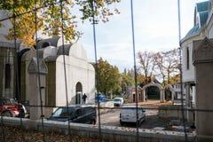 Chantier de construction d'église orthodoxe dans les Frances Photo stock
