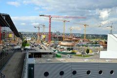 Chantier de construction d'aéroport de Stuttgart Photo libre de droits