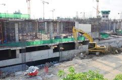 Chantier de construction d'affaires de bâtiment à Bangkok Thaïlande Photographie stock libre de droits