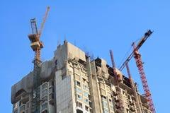 Chantier de construction d'appartement de condominium dans lumineux Images libres de droits