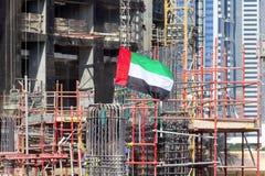 Chantier de construction d'un gratte-ciel photos stock