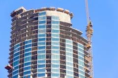 Chantier de construction d'un gratte-ciel Photographie stock libre de droits