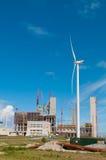 Chantier de construction d'une centrale de charbon Image libre de droits