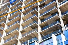 Chantier de construction d'une nouveauté à Greenwich du nord Image stock