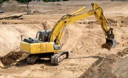 Chantier de construction d'une nouvelle route Photos stock