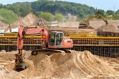 Chantier de construction d'une nouvelle route Image stock