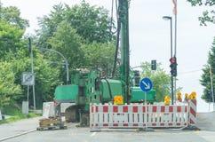 Chantier de construction dans la ville Image stock