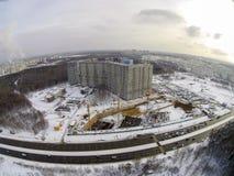 Chantier de construction dans la ville Photos stock