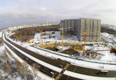 Chantier de construction dans la ville Image stock