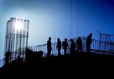 Chantier de construction dans le bleu photo stock