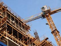 Chantier de construction dans un nouveau secteur de bureau Photos libres de droits
